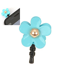 Elastic Blue Flower Design Alloy Mobile phone products