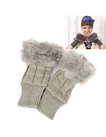 Packaging Gray Thicken Squares Fingerless