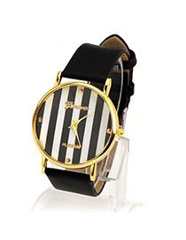 Bendable Black Stripe Surface Round Shape Design