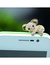 Free gold color diamond decorated koala design alloy Mobile phone products