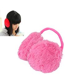 Custom Plum Red Pure Color Simple Design Wool Fashion earmuffs