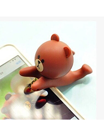 Masonic Brown Bear Shape Simple Design Silicone Phone holder