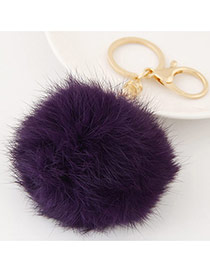 Fashion Purple Fur Ball Pendant Decorated Simple Design