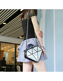 Fashion Silver Color Triangle Pattern Simple Design