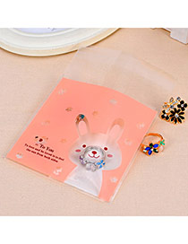 Sweet Pink Rabbit Pattern Simple Design Polypropylene Jewelry Tools