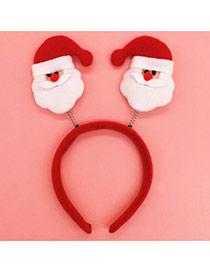 Lovely Red Santa Claus Shape Decorated Simple Design