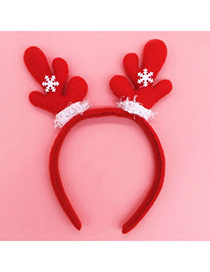 Lovely Red Antlers Shape Decorated Asymmetry Design  Fabric Festival Party Supplies