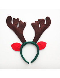 Personalized Brown+green+red Antlers Shape Decorated Simple Design