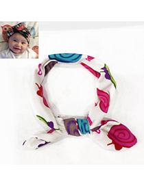 Lovely White Candy Pattern Decorated Rabbit Ear Shape Design Cotton Kids Accessories