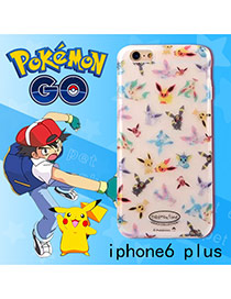 Cute White Monster Shape Pattern Decorated Ipone6 Plus Cases