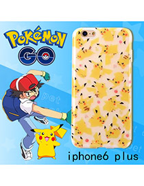 Cute Yellow Monster Shape Pattern Decorated Ipone6 Plus Cases