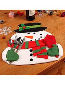 Mantel Individual De Navidad En Forma De Monigote De Nieve