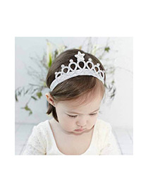 Fashion Silver Color Crown Decorated Pure Color Hair Clasp